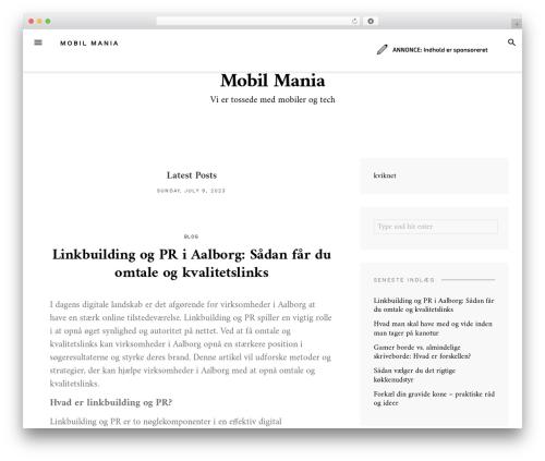 Blover WordPress template - mobil-mania.dk