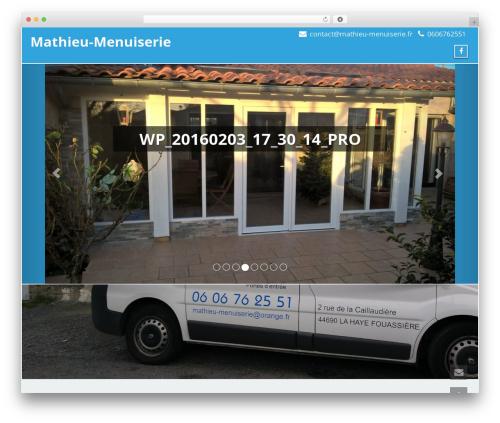 Enigma best free WordPress theme - mathieu-menuiserie.fr