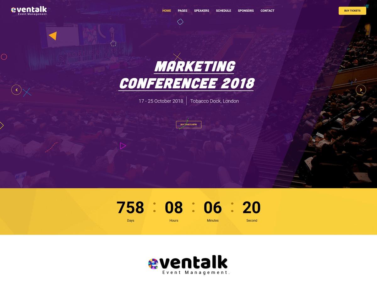 Eventalk WordPress ecommerce template