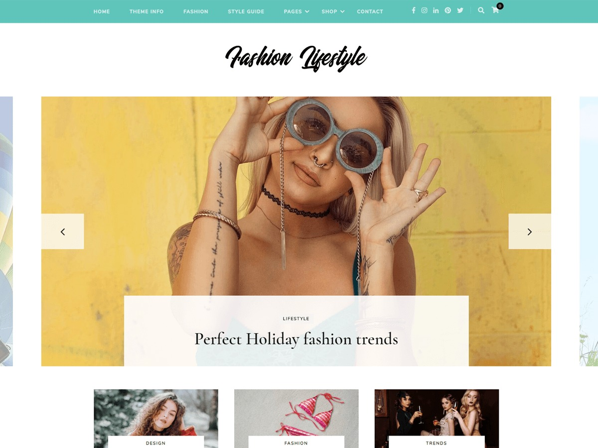 Fashion Lifestyle fashion WordPress theme