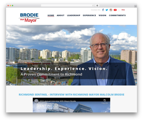 Malcolm Brodie 2018 top WordPress theme - malcolmbrodie.com