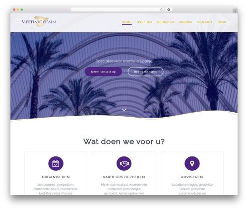 Mesmerize PRO premium WordPress theme - meetingspain.nl