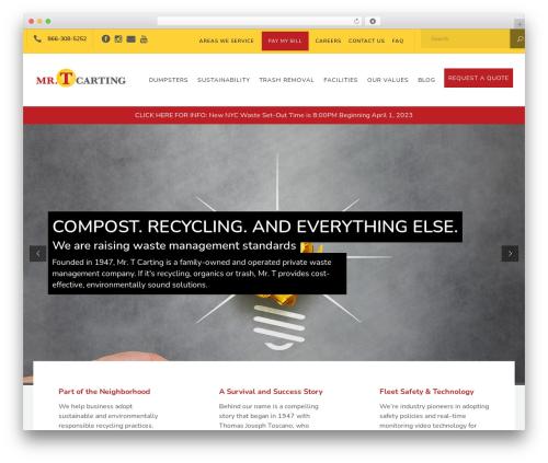 Recycle premium WordPress theme - mrtcarting.com