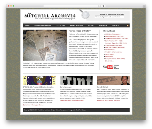 Revolution newspaper WordPress theme - mitchellarchives.com