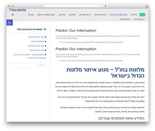 Scoop WordPress website template - myagent.co.il