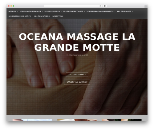 Seos Photography template WordPress free - massage-lagrandemotte.com