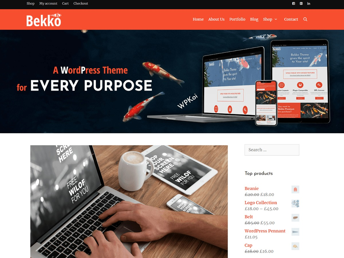 Bekko WordPress shop theme