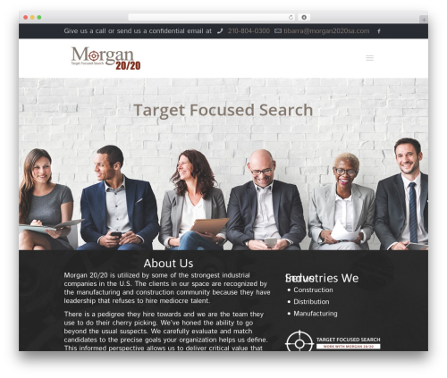 Best WordPress theme Betheme - morgan2020sa.com