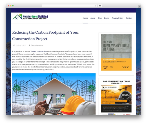 Greenr free WordPress theme - monstergreenbuilding.com