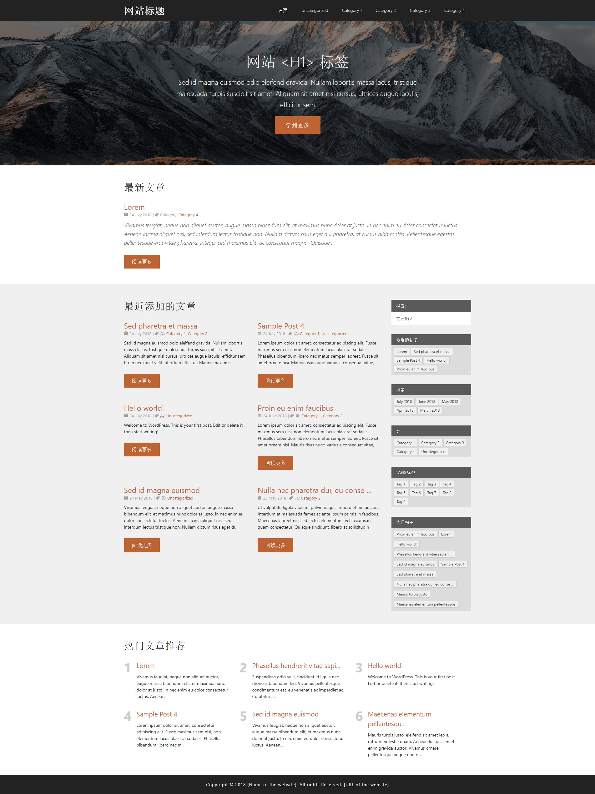 template1 WordPress template for business
