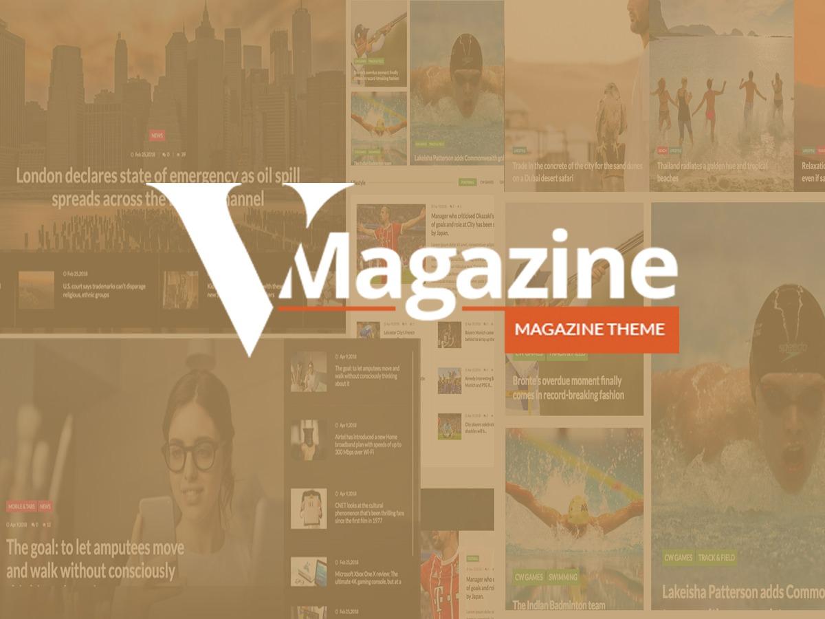 vmagazine best WordPress magazine theme