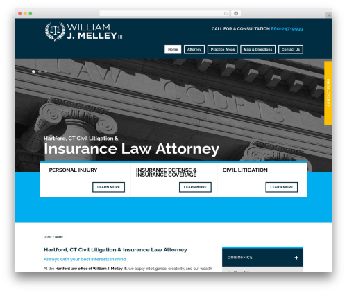 WordPress theme Project X v15 - melleylaw.com