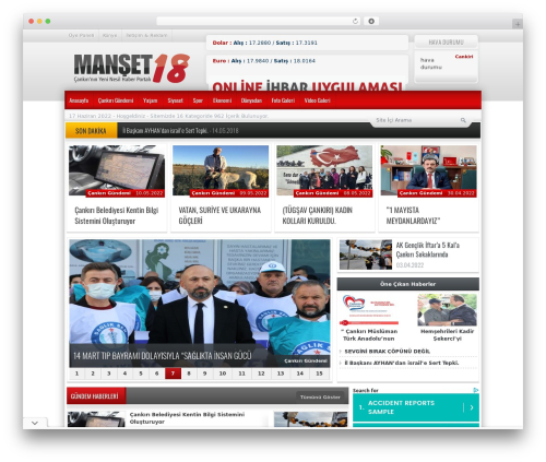 Best WordPress theme Haber - manset18.com