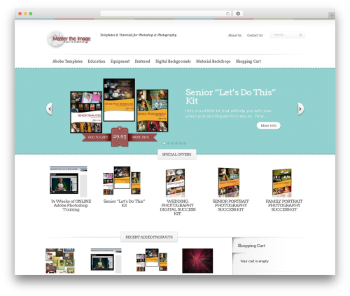 Boutique WordPress theme - mastertheimage.com