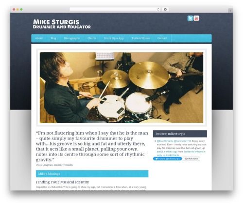 Genesis premium WordPress theme - mikesturgis.co.uk