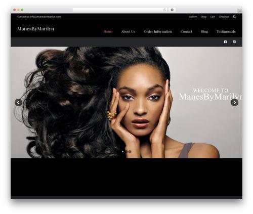Hairdo top WordPress theme - manesbymarilyn.com