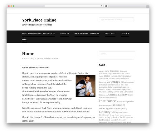 Hayley template WordPress free - yorkplaceonline.com