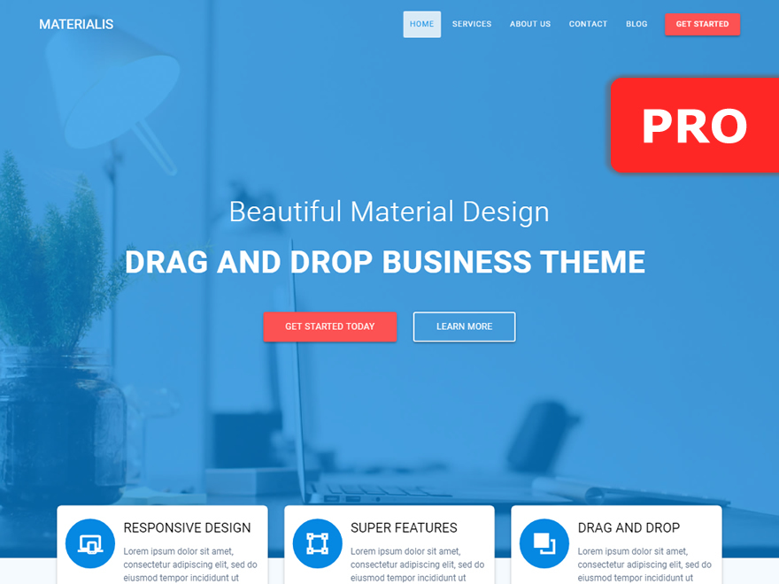 Materialis PRO best WordPress video theme