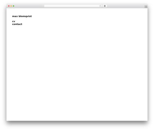 Novus WordPress theme - maxblomqvist.se