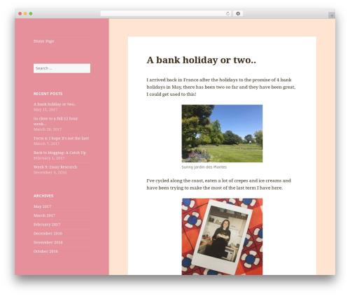 Twenty Fifteen WordPress theme design - mlhm.co.uk