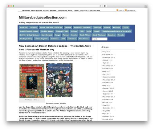 WordPress template Regal - militarybadgecollection.com