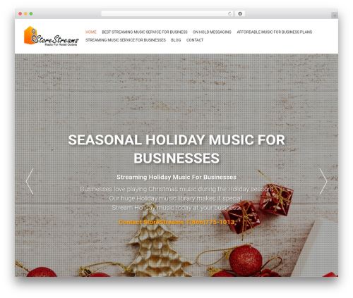AccessPress Parallax WordPress shopping theme - radioforretailers.com