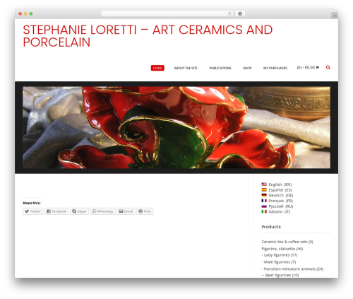 Conica free WordPress theme - stephanieloretti.com