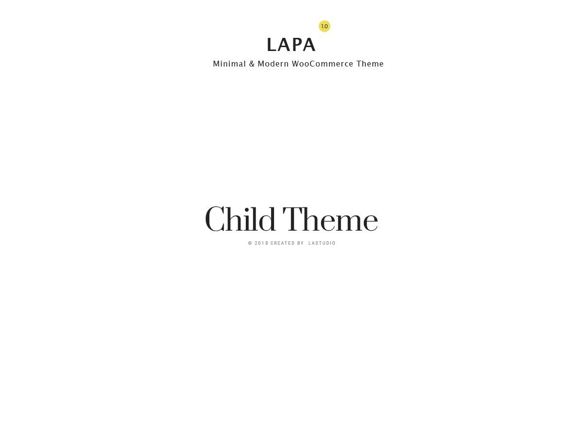 Lapa Child WordPress ecommerce theme