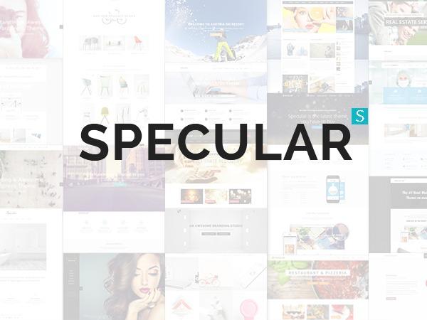 Specular new WordPress portfolio template