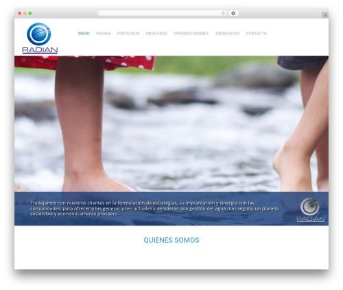 Wordpress Website Template Trillion By Entiricom