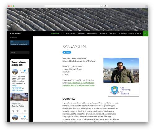 Twenty Fourteen WordPress theme - ranjansen.com
