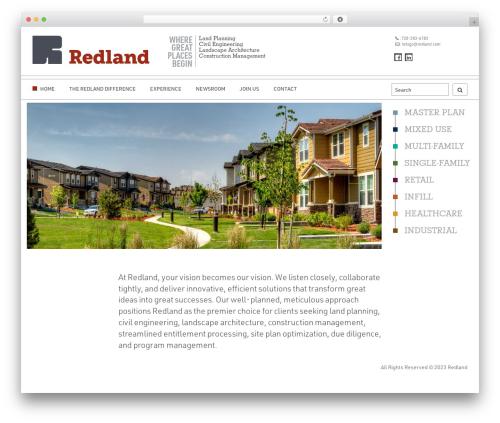 Enhenyerowp WordPress theme design - redland.com