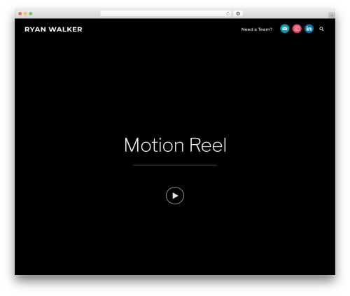 Inspiro WordPress theme - ryanwalkerfx.com