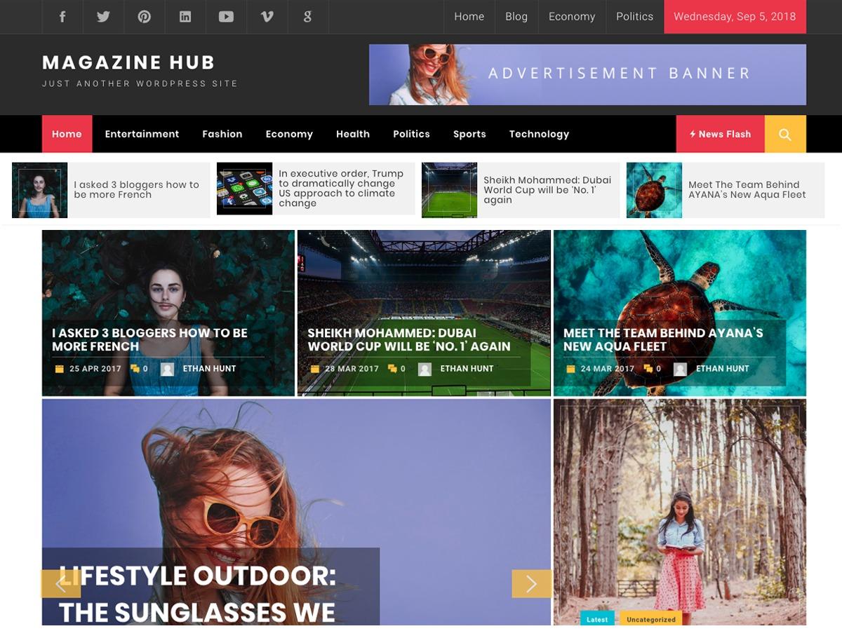 Magazine Hub WordPress news theme