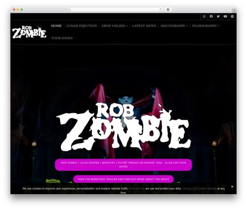 Music Lite WordPress movie theme - robzombie.com