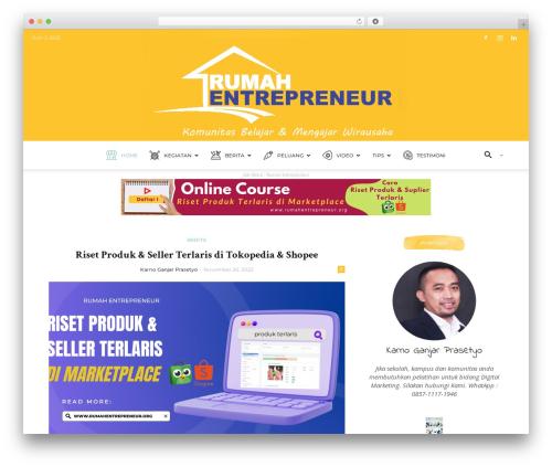 Newspaper newspaper WordPress theme - rumahentrepreneur.org