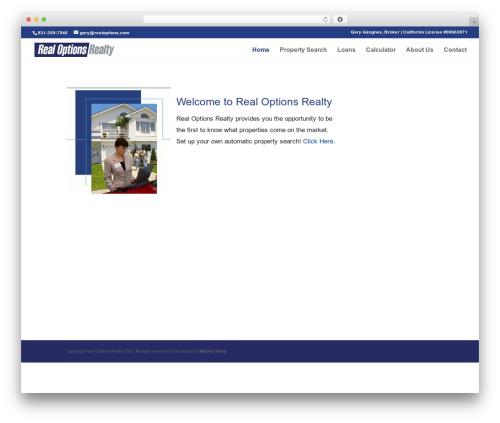 WordPress popup-press plugin - realoptions.com