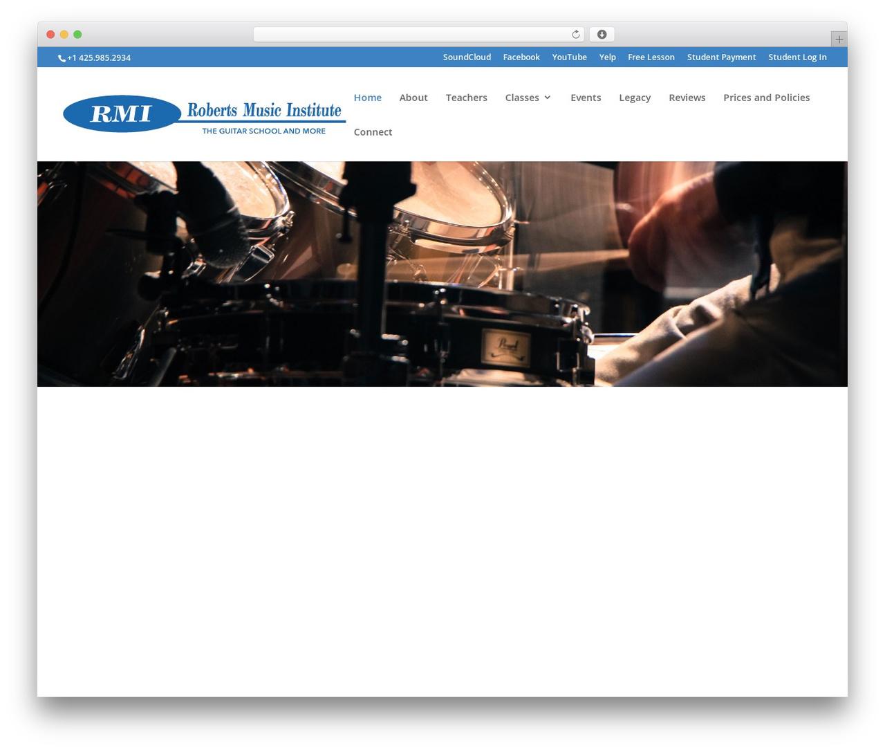 WP template Divi - robertsmusicinstitute.com