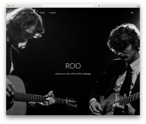 Adonis WordPress theme - roomusic.nl
