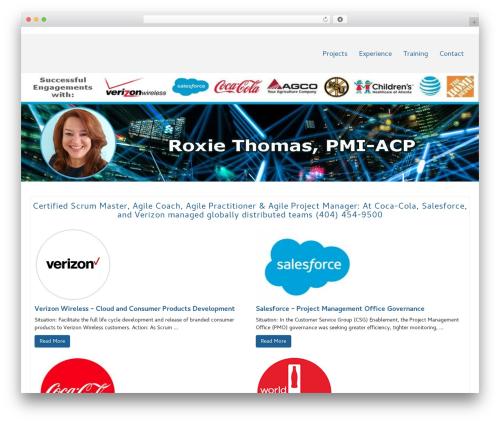 Di Responsive best WordPress template - roxiethomas.com