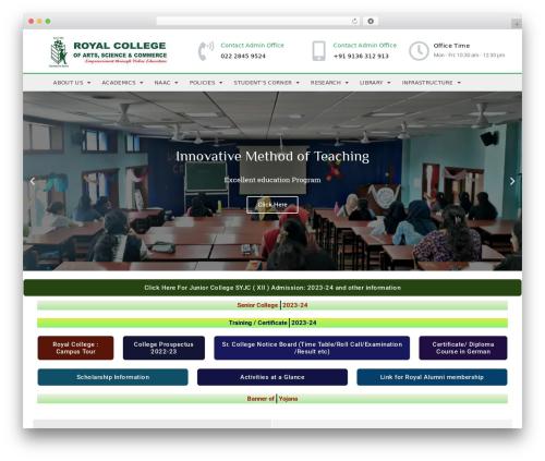 Kahuna WordPress theme - royalcollegemiraroad.edu.in