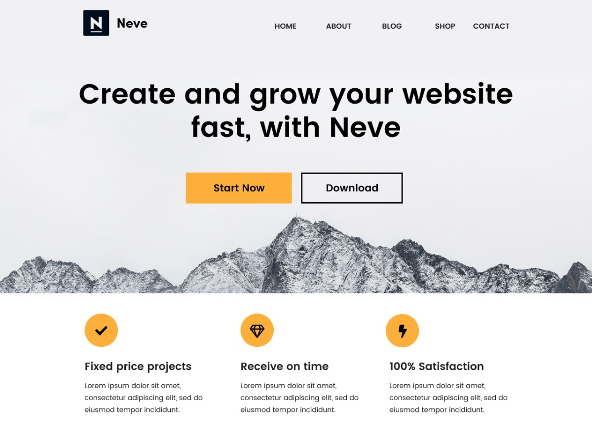 neve premium WordPress theme