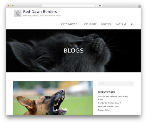 Pet Business business WordPress theme - reddawnborders.com