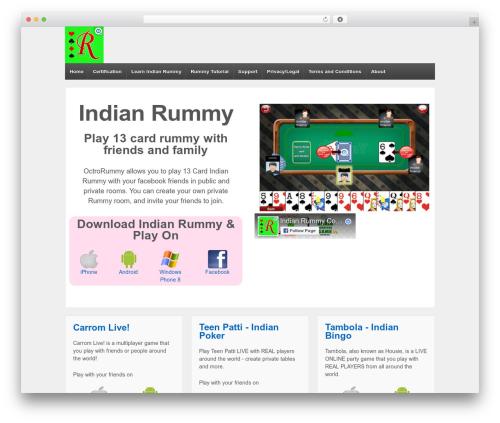 Responsive WordPress theme download - rummy.octro.com