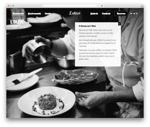 The7 WordPress restaurant theme - restaurantlolive.com