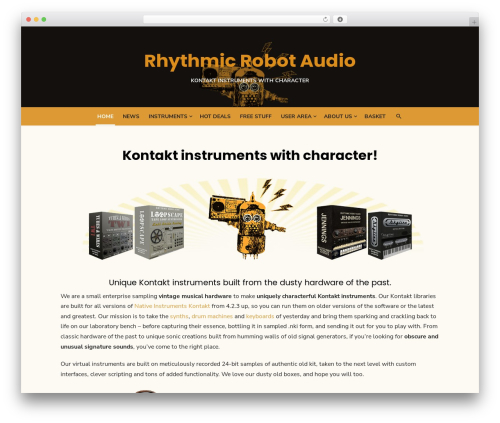 Theme WordPress Type Plus - rhythmicrobot.com