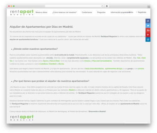 WordPress website template WpRentals 1.20.4 - rentapartmagazine.com