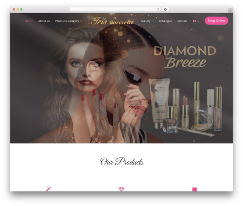 Beauty Studio premium WordPress theme - iriscosmetic.com