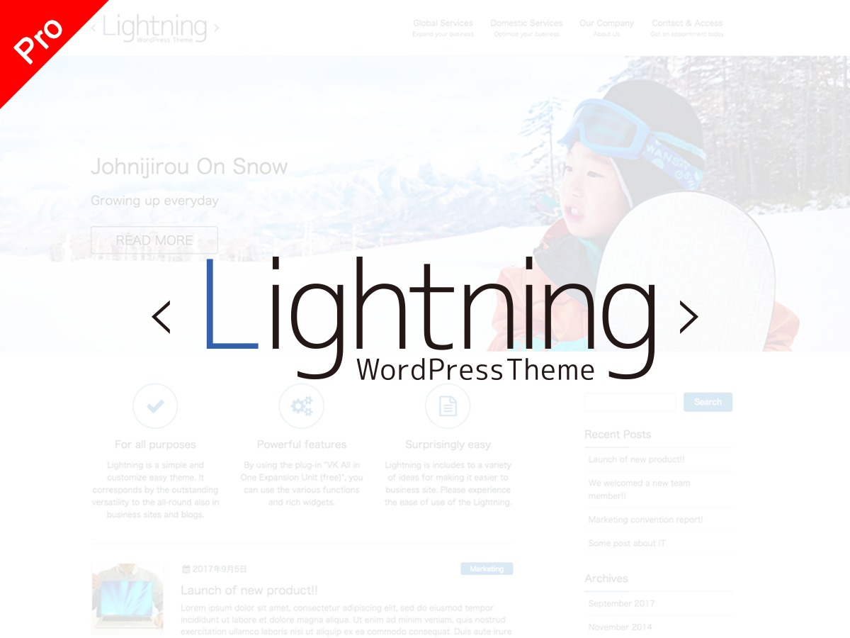 Lightning Pro theme WordPress