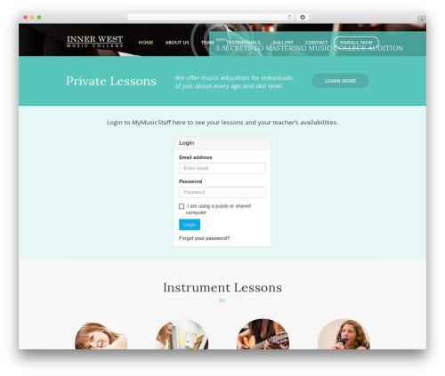 MelodySchool best WordPress template - innerwestmusiccollege.com.au